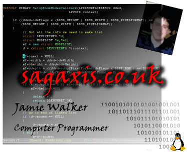 sagaxis.co.uk - Jamie Walker's homepage